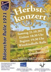 Plakat zum Herbstkonzert